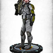 Mass Effect - Cerberus Soldier Print by Frederico Borges