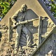 Massachusetts At Gettysburg 1st Mass. Volunteer Infantry Skirmishers Close 1 Steinwehr Ave Autumn Print by Michael Mazaika