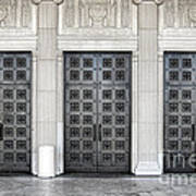 Massive Doors Print by Olivier Le Queinec