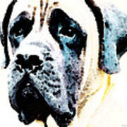 Mastif Dog Art - Misunderstood Print by Sharon Cummings