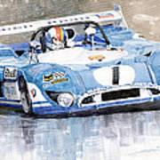 Matra Simca 670 Francois Cevert Print by Yuriy  Shevchuk