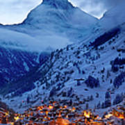 Matterhorn At Twilight Print by Brian Jannsen