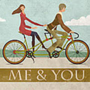 Me And You Bike Print by Andy Scullion