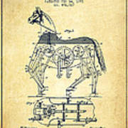 Mechanical Horse Patent Drawing From 1893 - Vintage Print by Aged Pixel