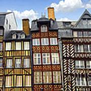 Medieval Houses In Rennes Print by Elena Elisseeva