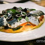 Mediterranean Sardine Pizza Print by Dean Harte