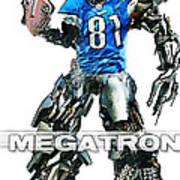 Megatron-calvin Johnson Print by Peter Chilelli
