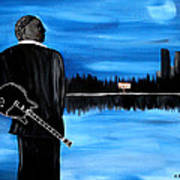 Memphis Dream With B B King Print by Mark Moore