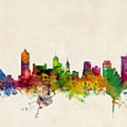 Memphis Tennessee Skyline Print by Michael Tompsett