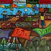 Mercado Mexicana Print by Patti Schermerhorn