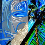 Merged - Painted Blues Print by Jon Berry OsoPorto