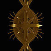Metallic Balance Brass Print by James Willoughby III