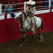 Mexican Cowboy July 4th Rodeo Chandler Arizona 1999 Print by David Lee Guss