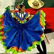 Mexican Dancers Print by Elisabeta Hermann