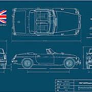 Mgb Mk.2 Roadster Print by Douglas Switzer