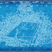 Miami Heat Arena Blueprint Print by Joe Myeress