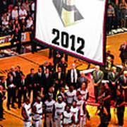 Miami Heat Championship Banner Print by J Anthony