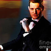 Michael Buble Print by Marvin Blaine