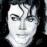 Michael Jackson Portrait Print by Alban Dizdari