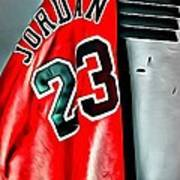 Michael Jordan 23 Shirt Print by Florian Rodarte