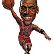Michael Jordan Print by Art