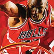Michael Jordan Artwork 3 Print by Sheraz A