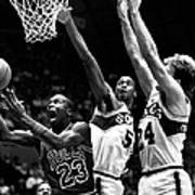 Michael Jordan Going For A Hard Layup Print by Retro Images Archive