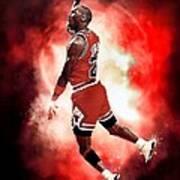 Michael Jordan Print by NIcholas Grunas Cassidy