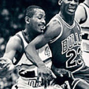 Michael Jordan Trying To Get Position Print by Retro Images Archive