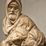Michelangelo's Final Pieta Print by Melany Sarafis