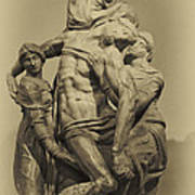 Michelangelo's Florence Pieta Print by Melany Sarafis