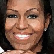 Michelle Obama Print by Samuel Majcen