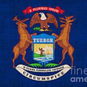 Michigan State Flag Print by Pixel Chimp