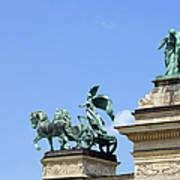 Millennium Monument In Budapest Print by Artur Bogacki