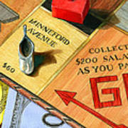 Minneford Monopoly Print by Marguerite Chadwick-Juner