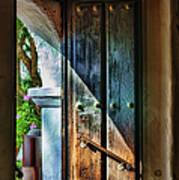 Mission Door Print by Joan Carroll