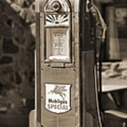 Mobilgas Special - Wayne Pump - Sepia Print by Mike McGlothlen