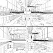 Modern Hall Print by Nenad Cerovic