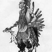 Mohawk Dancer Print by Lew Davis