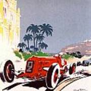 Monaco Grand Prix 1934 Print by Georgia Fowler