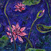 Monet's Lily Pond I Print by Xueling Zou