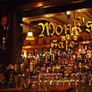Monks Cafe Print by Rona Black