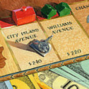 Monopoly On City Island Avenue Print by Marguerite Chadwick-Juner