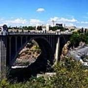 Monroe Street Bridge - Spokane Print by Michelle Calkins