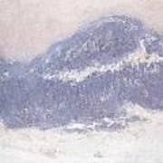 Mont Kolsaas Print by Claude Monet
