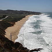 Montara State Beach Pacific Coast Highway California 5d22621 Print by Wingsdomain Art and Photography