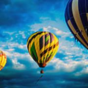 Morning Flight Hot Air Balloons Print by Bob Orsillo