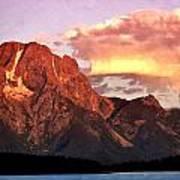 Morning Light On The Tetons Print by Marty Koch