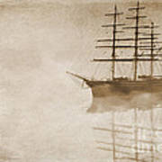 Morning Mist In Sepia Print by John Edwards