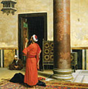 Morning Prayers Print by Ludwig Deutsch